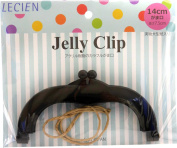 Lecien Japan 57621-100 Jelly Clip, 13cm - 1.3cm /Medium, Black