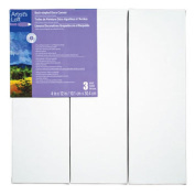 Artist's Loft Back Stapled Deco Canvas 3 Pack, 10cm x 30cm