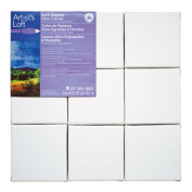 Artist's Loft Back Stapled Deco Canvas 9 Pack, 4 x 4