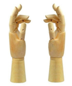 Illustration / Drawing on !! wooden hand mannequin! (24cm, both hands) From import JPN