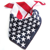 American Flag Bandana / American Flag Headband / Can Use As Neck Tie / Mask Napkin / July 4th Accessories 50cm X 50cm