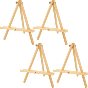 US Art Supply 30cm Tall Tripod Easel Natural Pine Wood
