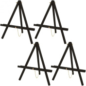 US Art Supply 41cm Tall Tripod Easel-Pine Wood-Painted Black