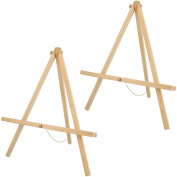 US Art Supply 50cm Tall Tripod Easel Natural Pine Wood