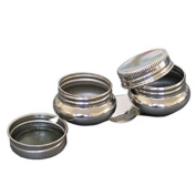 Loxley Artist Metal Double Dippers with Lids for Paints Cosmetics & Consumables