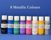 Anitas Acrylic Paint Collection of 8 Metallic Colours