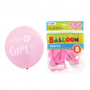 Flomo BL843 30cm . Its A Girl Printed Balloons - 8 Count, Case of 36