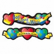 Creative Teaching Press 93216 Decor God So Loves The World Up Down, 7 Pieces