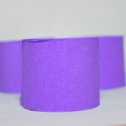 Quasimoon Purple Crepe Paper Streamer Party Decorations (60m Total, 3 Pack) by PaperLanternStore