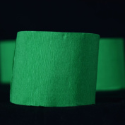 Quasimoon Dark Green Crepe Paper Streamer Party Decorations (60m Total, 3 Pack) by PaperLanternStore