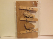 5 Piece *Christmas* Decorative Clothespins