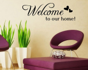 Lanue® Welcome to our Home Quotes Saying Vinyl Wall Stickers Decal Mural Home Decor Wall Art Decal