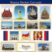 Russia Sightseeing Picture Sticker Cut Outs
