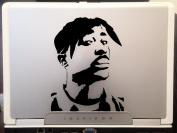 Tupac Raper Beautiful Artwork Silhouette Car Truck Laptop Macbook Vinyl Decal Sticker 10cm Black