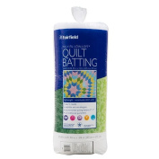 Poly-Fil L90S 230cm x 270cm . Traditional Quilt Batting - White, Queen