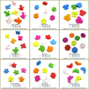 120 pcs Sewing Buttons Sewing Sew On Wood Wooden Colourful Buttons Supplies Supply Fasteners Wholesale WB519 Mixed Windmill Flower