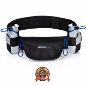 Camden Hydration Running Belt With 2 BPA Free Water Bottles