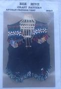 Bee Hive Afghan Fringed Vest Pattern #20342