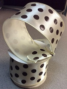 Creme And Chocolate Polka Dotted 6.4cm X 10 Yard Roll of Ribbon
