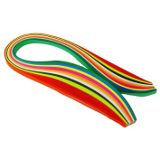 Paper Quilling Colourful 95 Pieces Strips Art Craft Supply Ribbons 7MM Wide Stripes