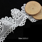 5yard Embroidered White Crochet-style Motif Lace Venise Ribbon Applique Scrapbooking Trim Embellishment Sewing for Craft T824