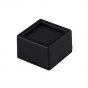 10 Glass-top Square Gem Jars - Black Jewellery Display