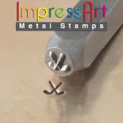 ImpressArt, Metal Jewellery Design Stamp, Hockey Sticks, 6mm