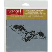 Stencil1 15cm x 15cm Stencil-Bat