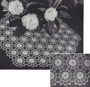 Vintage Crochet PATTERN to make - Irish Rose Motif Doily Centrepiece Flower Mat. NOT a finished item. This is a pattern and/or instructions to make the item only.