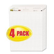 Post-It Easel Pads 560-VAD-4PK Self-Stick Easel Pads, Quad Rule, 25 x 30, White, 4 30-Sheet Pads-Carton
