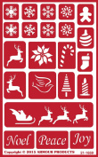 Armour Products Over N Over Glass Etching Stencil, 13cm by 20cm , Holiday Baubles