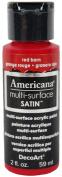 DecoArt Americana Multi-Surface Satin Acrylic Paint, 60ml, Red Barn