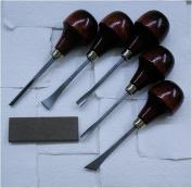 Printmaking Tool Set- Wood Carving Set with Sharpening Stone