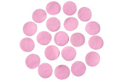 Pink Adhesive Felt Circles; Package of 48, 3.8cm Wide, Die Cut; DIY Projects