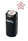 LolliZ Happy Star Round Teacher Stamp With Lid. Red Colour