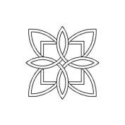 Quilting Creations Celtic Floral Design Quilt Stencil, 18cm