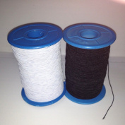 (2 Rolls) White AND Black Elastic Thread 547 Yard Package 0.5mm Thickness