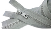 ZipperStop Wholesale Authorised Distributor YKK® Sport Separating Zipper 60cm Colour Pearl Grey #577 (Special) Vislon Jacket Zip YKK #5 Moulded Plastic