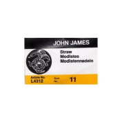 Colonial Needle 25 Count John James Milliners/Straw Uncarded Needles, Size 11