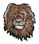 Lion Head Zoo Safari Animal Wildlife Africa DIY Applique Embroidered Sew Iron on Patch LO-002
