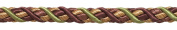 Large PLUM OLIVE GREEN Baroque Collection 1.1cm Decorative Cord Without Lip Style# 716BNL Colour