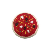 Estella Hand Knit Organic Pizza Rattle Baby Toy