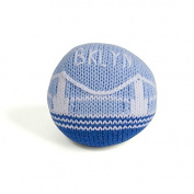 Estella Hand Knit Organic Brooklyn Bridge Rattle Baby Toy