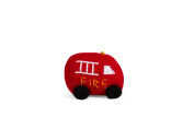 Estella Hand Knit Organic Fire Truck Rattle Baby Toy
