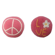 Estella Hand Knit Organic Peace & Love Rattle Baby Toy