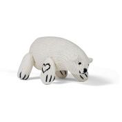 Estella Hand Knit Organic Polar Bear Rattle Baby Toy