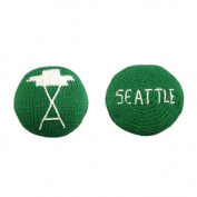 Estella Hand Knit Organic Seattle Space Needle Rattle Baby Toy