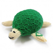 Estella Hand Knit Organic Turtle Rattle Baby Toy
