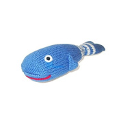 Estella Hand Knit Organic Whale Rattle Baby Toy