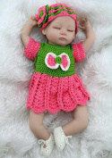 Npkdoll Reborn Baby Doll Soft Silicone 18inch 45cm Magnetic Lovely Lifelike Cute Boy Girl Toy Green Red Eyes Close
